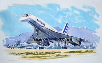 Concorde au décollage de la Tontouta