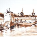 Short S-23 Coriolanus de la Qantas au mouillage à l'hydrobase de Nouméa