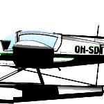 MS 894A Rallye Minerva à flotteurs Molino est certifié dans les pays scandinaves dès 1970.