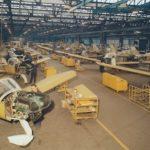 Le hall de montage des Rallye, à l'usine de Tarbes-Ossun
