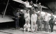 Saint Exupéry avec les pilotes de l'escadrille espagnole du cap Juby hiver 1927/1928