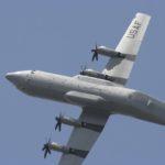 C-130J en évolution (peu chargé…) dans le ciel du Bourget. La prochaine monture de l'armée de l'Air, avec à la clef une microflotte supplémentaire ?