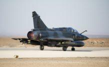 Mirage 2000D au décollage de sa base jordanienne. Moins puissants que les Rafale, les Mirage 2000D et N bénéficient en revanche d'une plus grande proximité géographique avec les objectifs en Syrie.