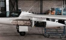 Le système complet de réception spécialement développé pour le projet, s'intègre dans le POD de motoplaneur.