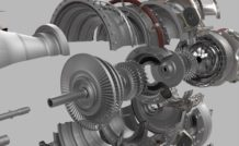 L'architecture du moteur de GE, et en particulier la configuration du compresseur à cinq étages, s'inspire de celle du CT7/T700.