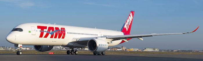 TAM Airlines devient le premier opérateur de l'A350 XWB pour le continent américain