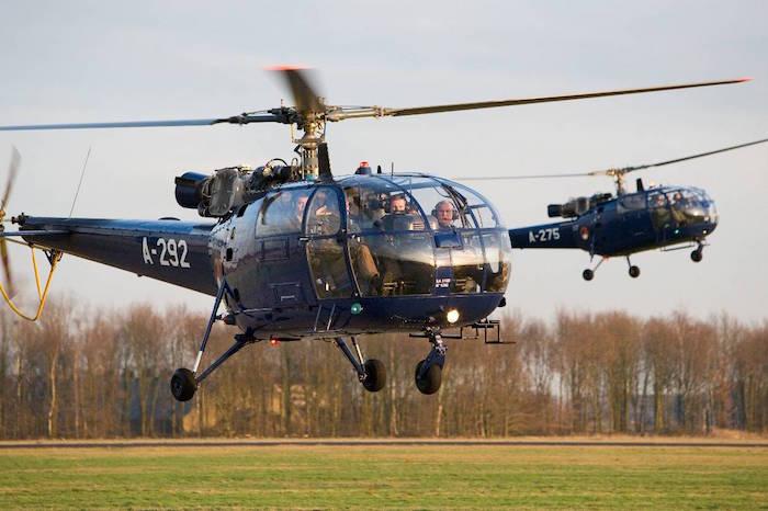 Les quatre dernières Alouette III des forces aériennes hollandaises étaient affectées à la famille royale
