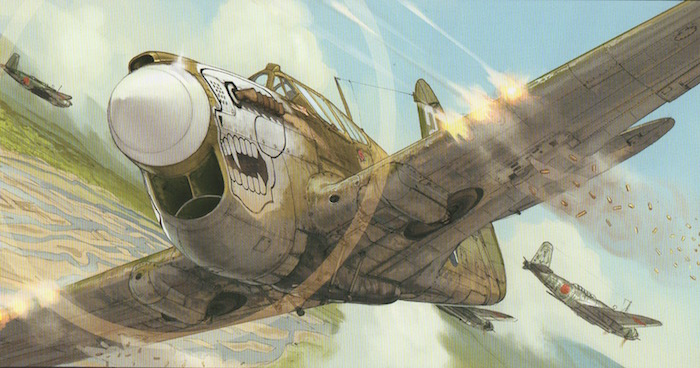 Les P-40 des Burma Banshees dans le feu de l'action