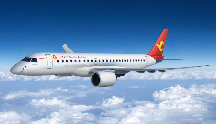 Embraer fait état de 267 commandes fermes et 373 options pour son programme E2