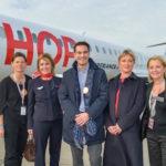 A Bordeaux, le 5 millionième passager de 2015 est arrivée de Lyon sur un vol Hop !