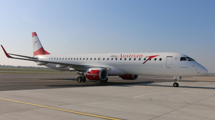 Synergie de groupe, Austrian Airlines récupère les 17 E195 de Lufthansa CityLine