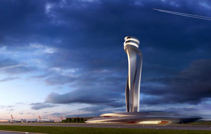 La tour de contrôle du future aéroport d'Istanbul a été signée par la société de design italienne Pininfarina dont le nom est associé à Ferrari, Alfa Romeo ou encore Jaguar.