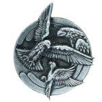 L'insigne de l'escadron d'instruction au vol à voile (EIVV) « Sainte Victoire » de la base aérienne 701 de Salon-de-Provence.