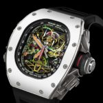 La montre-chronographe Richard Mille cosignée par Airbus Corporate Jet a été produite à 30 exemplaires seulement et vendus 1,1 M€ pièce.