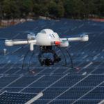 Un drone d'Air Marine sur une centrale solaire