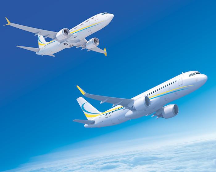 ACJ320neo et BBJ737 MAX8 aux couleurs de Comlux