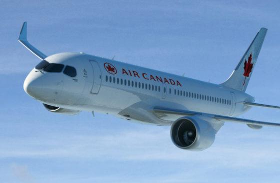 CS300 de Bombardier aux couleurs d'Air Canada