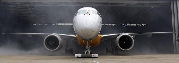L'E190-E2 a la même capacité d'emport que l'actuel E190, soit de 97 à 106 sièges.
