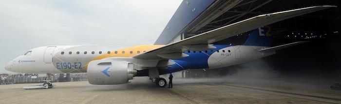 La famille E2 d'Embraer se compose logiquement de trois membres : E175-E2, E190-E2 et E195-E2.