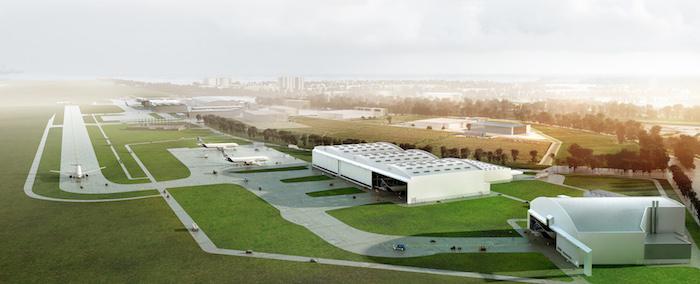 Le futur Centre d'Aménagement Commercial et de Livraison (C&DC) A330 de Tianjin, en Chine.