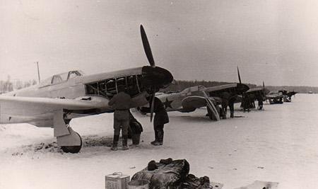 Yak 1 durant l'hiver 1942-1943