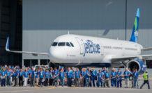 L'usine Airbus de Mobile, Alabama, est dimensionnée pour produire 4 avions par mois
