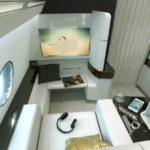 Chaque mini-suite individuelle est équipée des dernières technologies, de siège convertible et d'un espace de rangement dédié.