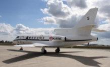 Les Falcon 50 Surmar a reçu un radar de détection, un système optronique, un nouveau cockpit et des hublots d'observation.