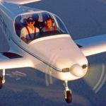 Le RF47, en essais en vol, pour la certification JAR VLA, avec Michel Barry et Jean-Marie Klinka.