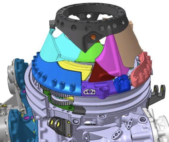 Les enquêteurs s'efforcent de reconstituer le puzzle du carter conique de BTP avec ses fragments, afin de comprendre le mécanisme de sa dislocation.