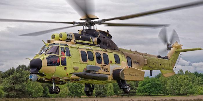 La campagne de tirs du système HForce sur hélicoptère H225M a permis de démontrer les performances d'armes balistiques, avec un viseur électro-optique et un viseur de casque affirme Airbus Helicopters.