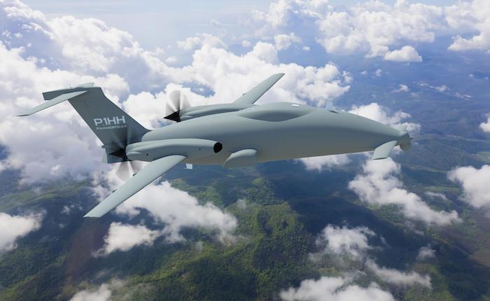Le drone P.1HH dérivé du Piaggio P180 Avanti II a été présenté en juin 2013 au salon du Bourget