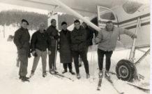 Robert Merloz et Michel Ziegler ouvrent, en 1962, l'altiport de Méribel.
