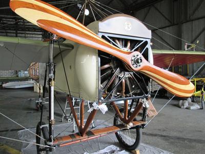 Le Blériot XI de Candillargues a malheureusement subi des dommages importants lors du crash.