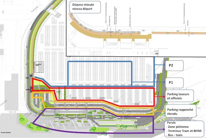 Nouveaux parkings voitures, nouveaux accès, nouvelle signalétique… l'aéroport de Bordeaux soigne aussi son côté ville.