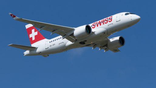 Le CS100 de SWISS peut accueillir 125 passagers