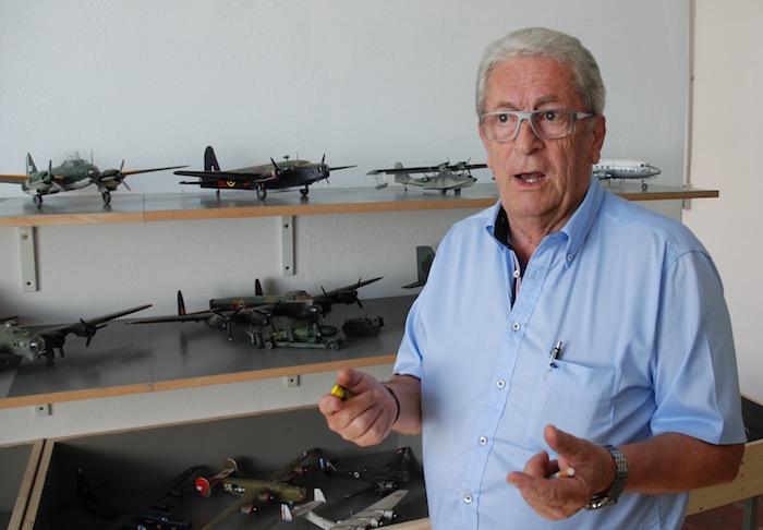 Bernard Tribble, le fondateur du musée de l'aviation de Lyon-Corbas