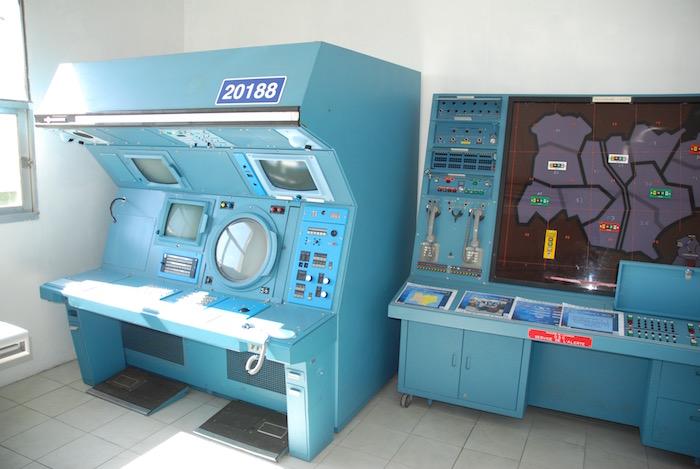 Console de contrôle aérien de la BA942 Lyon-Mont Verdun