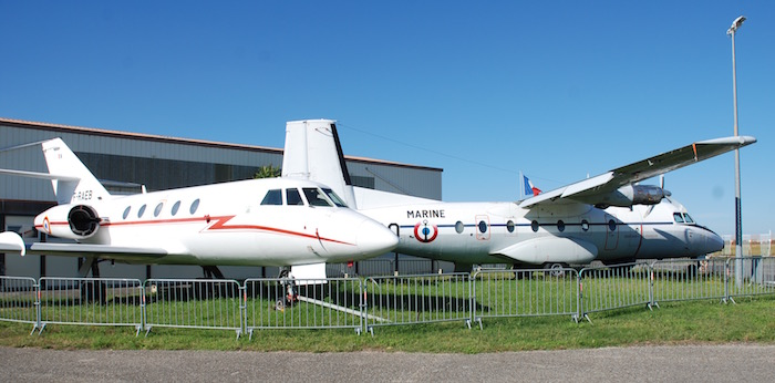 Dassault Mystère 20 et Nord 262 Fregate