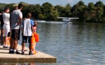 Amerrissage sur le plan d'eau de Carbonne, près de Toulouse