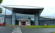 L'entrée du musée aéronautique, sur l'aéroport d'Angers-Marcé