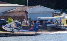 Le lac de Villeneuve de la Raho, ouvert pour deux jours aux hydroULM, est utilisé jusqu'ici uniquement par les Canadair de la Sécurité Civile.