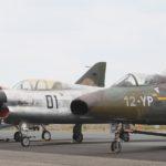 Le Mystère IVN côtoie le SMB2. Le premier fut la réponse de Dassault à la demande de l'armée de l'Air pour un chasseur de nuit. Le Vautour fut finalement sélectionné.