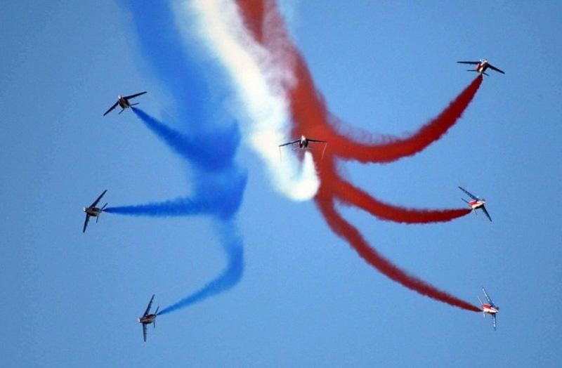 Depuis 1976, la Patrouille de France honore le meeting de sa présence. Il y a maintenant 40 ans. © Ph. Chetail