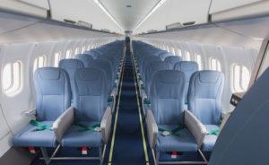 La version haute capacité de l'ATR 72-600 propose 78 sièges soit dix de plus que la configuration standard. Les sièges sont fournis par l'italien Geven. © ATR