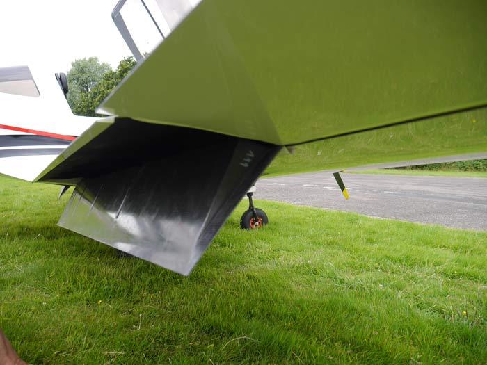 Les volets, sortis au troisième cran à 55°, se comportent comme de véritables aérofreins © Aerobuzz/Fabrice Morlon
