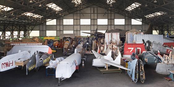 Le musée de l'air et de l'espace du Bourget propose des visites guidées et/ou libre des ateliers de restauration de Dugny. ©MAE