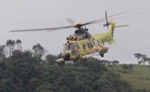 Le premier UH-15A (désignation brésilienne) équipés pour la lutte anti-surface sera opérationnel en 2018. Les quatre autres suivront au rythme d'un par an. © Frédéric Lert/Aerobuzz