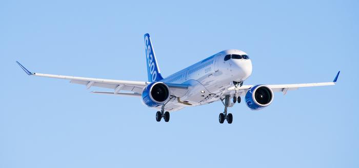 Livraison d'un premier avion CS300 à airBaltic prévue pour le quatrième trimestre de 2016. © Bombardier