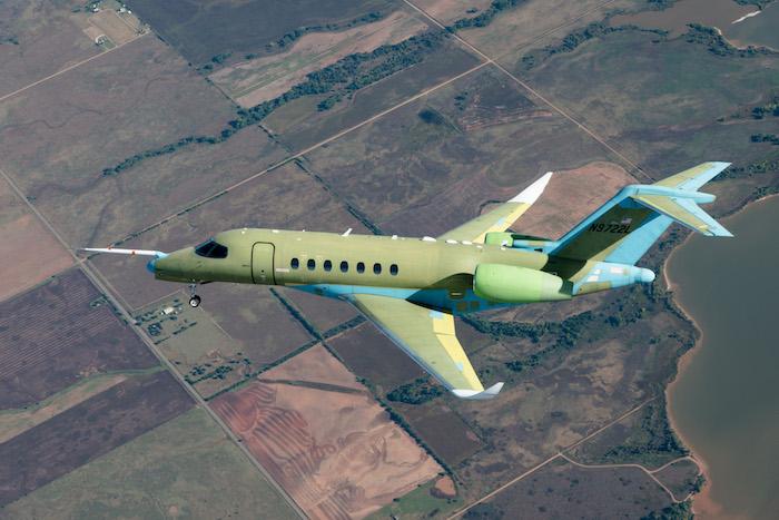 Lancé initialement avec le moteur Silvercrest de Safran, le Citation Longitude est en définitive équipé de deux moteurs Honeywell HTF7700L. © Textron Aviation